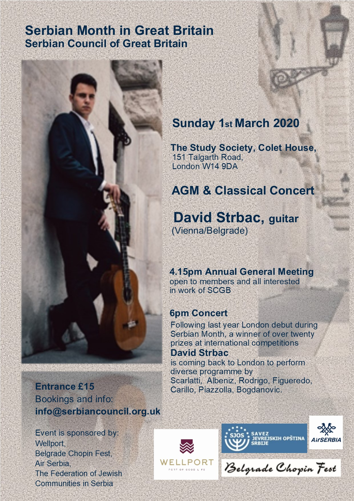 Serbian Council of Great Britain AGM followed by Concert